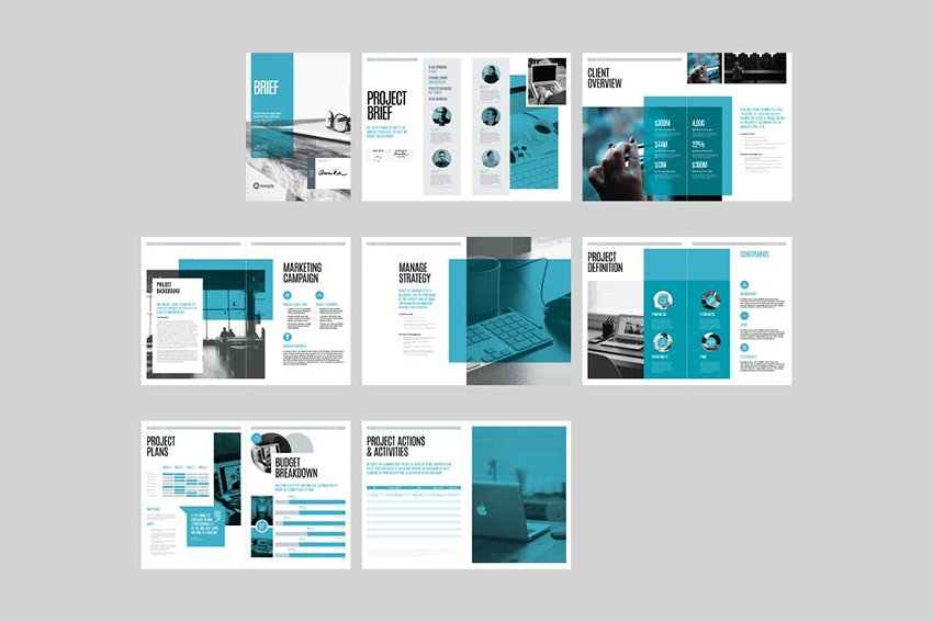 Brief Template, a well structured outline templates from Envato Elements
