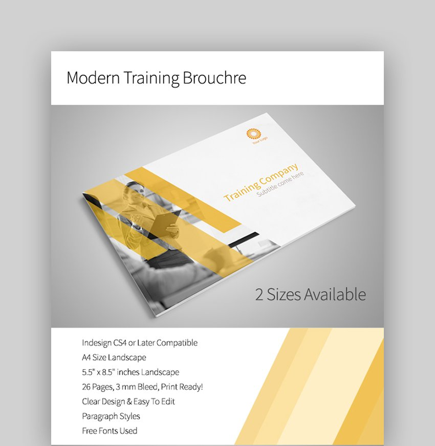 Modern Training Brochure Template