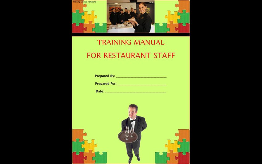 Restaurant Staff Free Example Training Manual Template