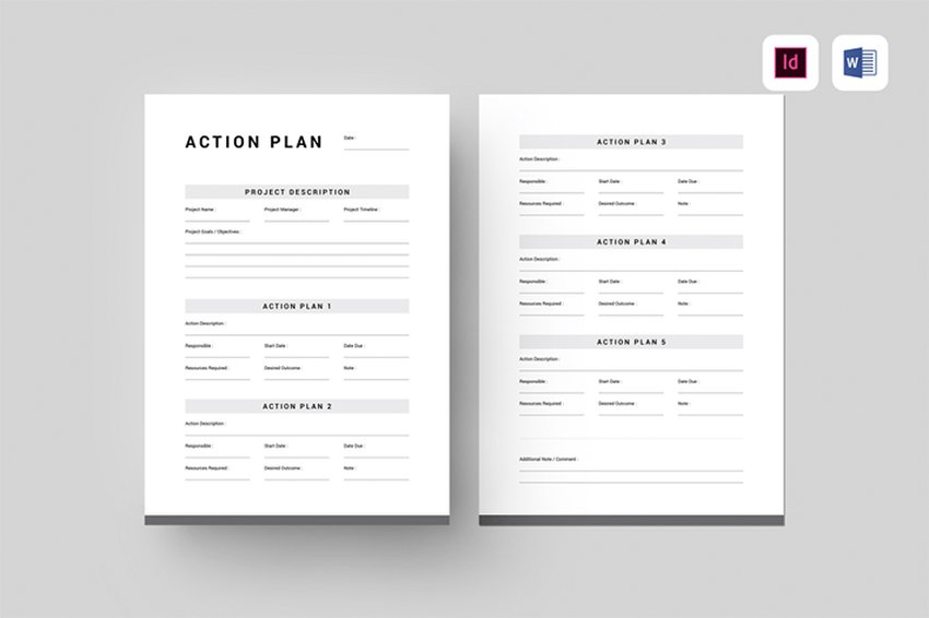 Take action immediately! Accompany your diagram with an Action Plan template like this