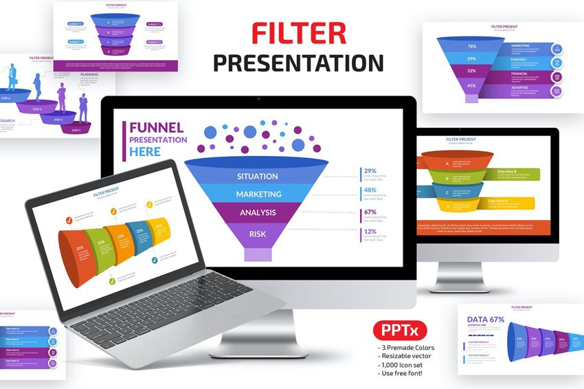 Funnel Powerpoint Presentation, a premium template from Envato Elements