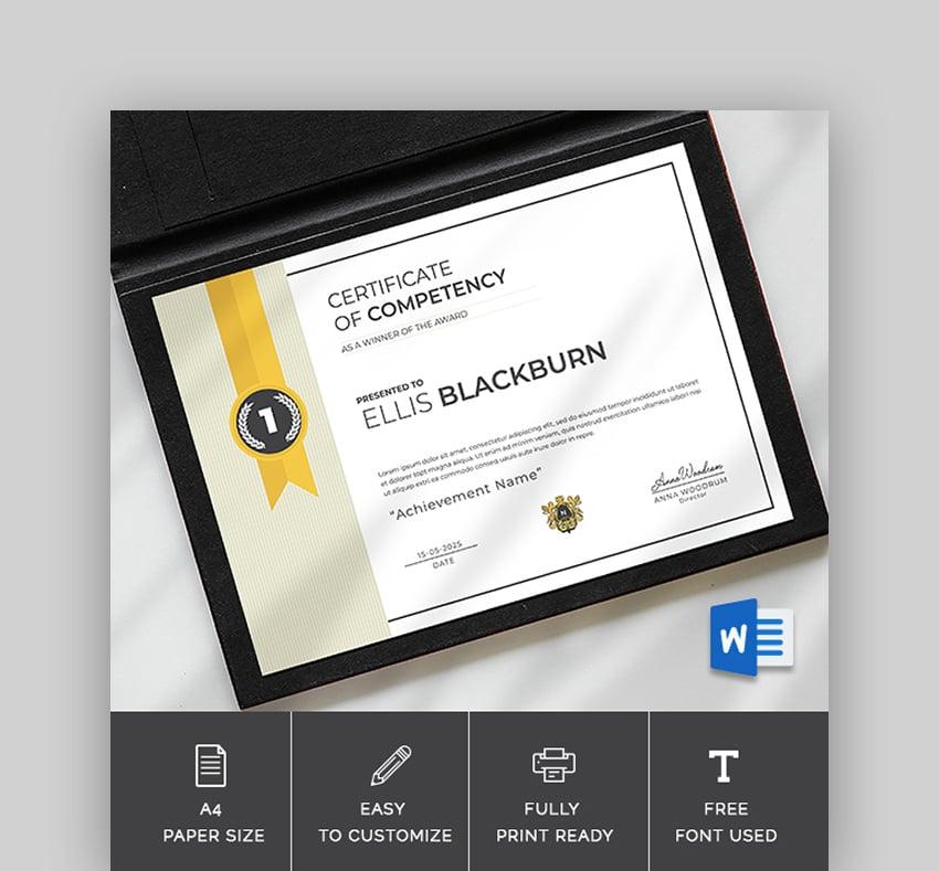 Graduation Diploma Template Word