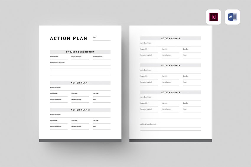 Action Plan a premium template from Envato Elements