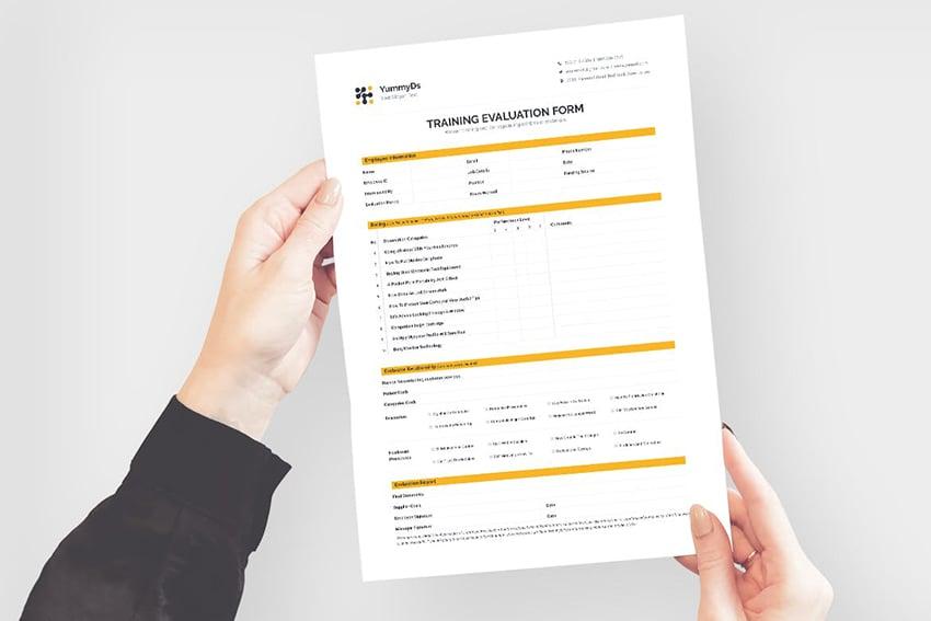 Training Evaluation Form, a premium minimalistic document from Envato Elements