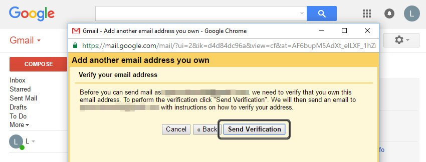 Send the verification email
