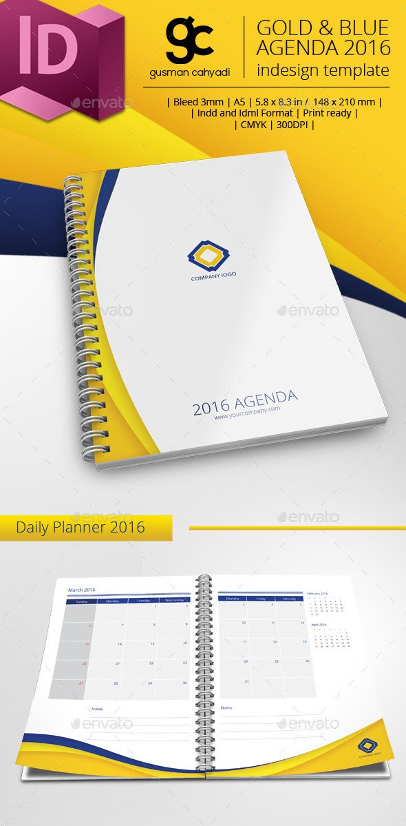 Printable Daily Planner Template - 2016