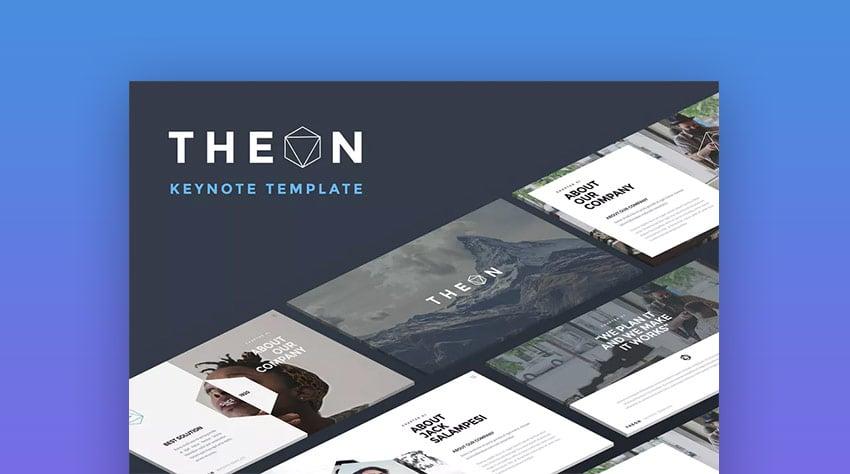 Theon - Kreative Keynote-Vorlage für Mac-Präsentationen