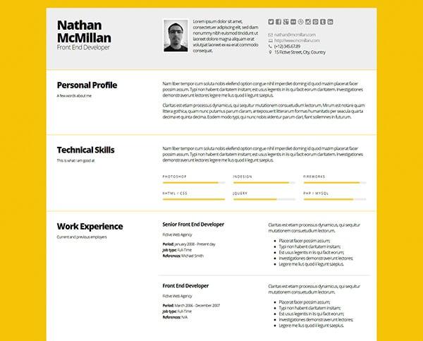 Bold - Better Responsive ResumeCV Template