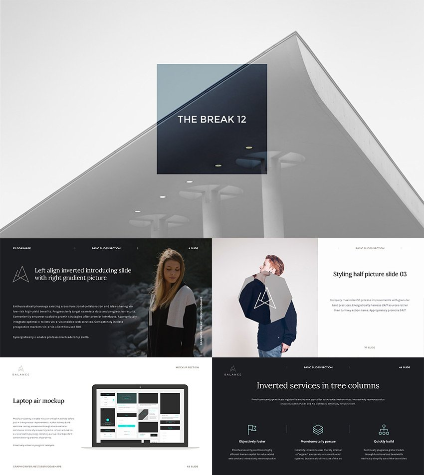 Balance PowerPoint Presentation Template 2016