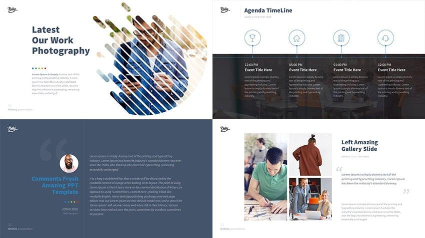 Mark02 PowerPoint presentation set of slide designs