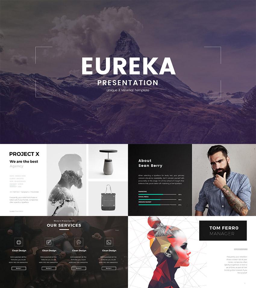 Eureka - Minimal Keynote Template Design 2016