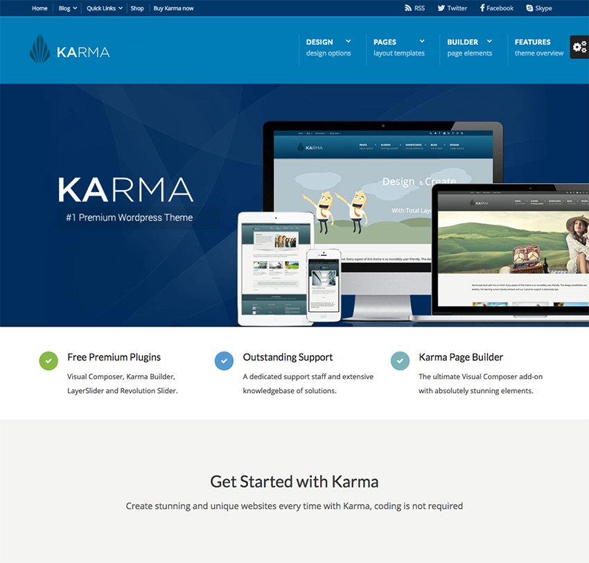 Karma WP Business Theme for Company Sites