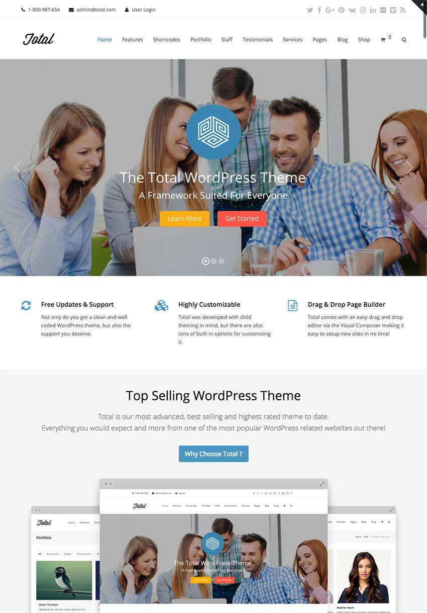 Total Corporate Business Theme for WordPress