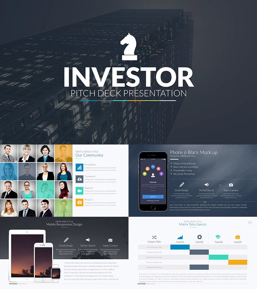 Investor Pitch Deck - PowerPoint Template