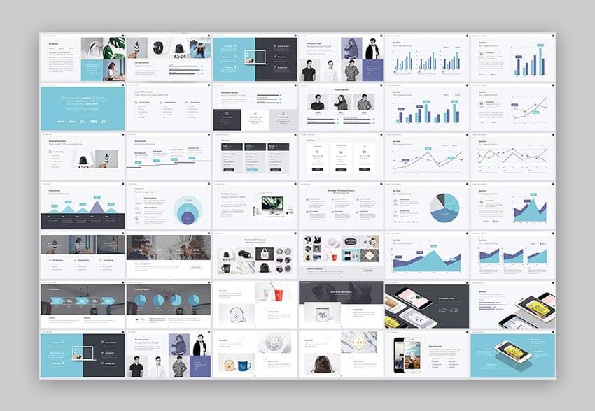 100 diapositivas unicas en la plantilla Pitch Werk PPT PowerPoint