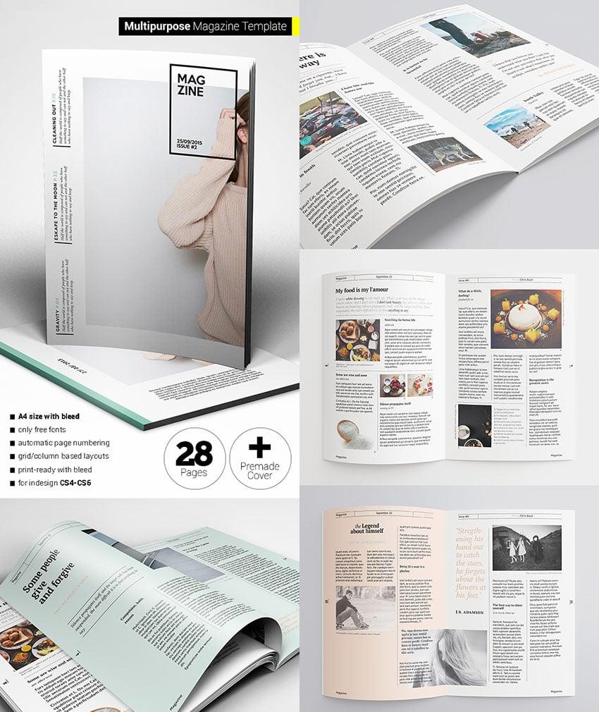 Flexible Magazine Template Creative Layouts