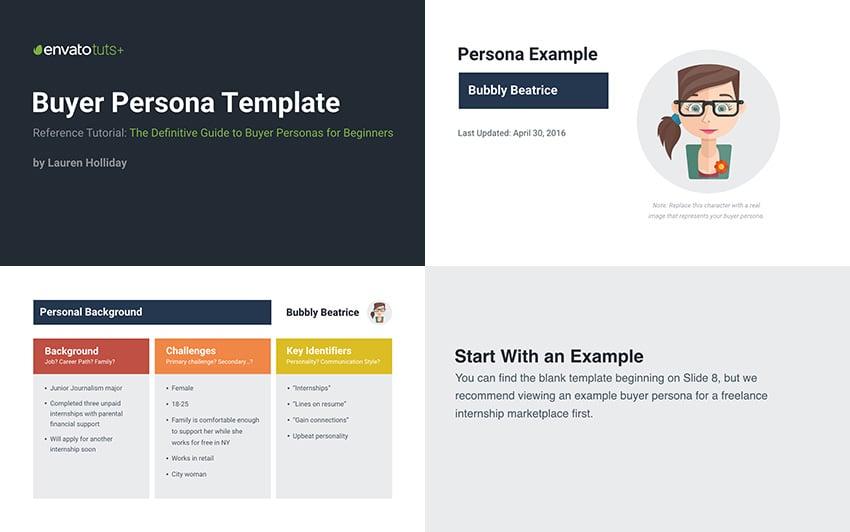 Buyer Persona Slide Template