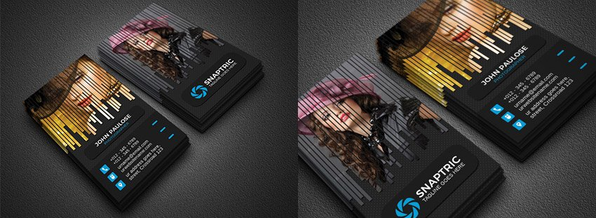 Modern Photography Style Business Card PSD