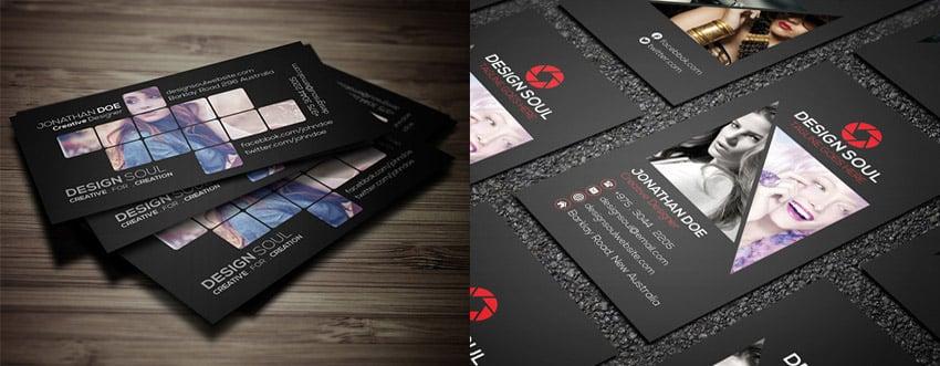 Unique Photography Business Card Bundle PSD