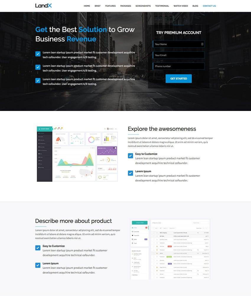 Multipurpose Wordpress Landing Page Template