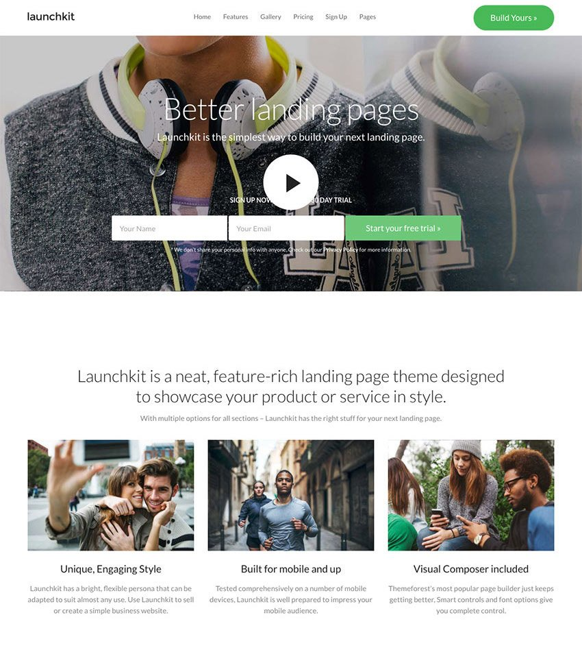 Landing Page Marketing WordPress Theme