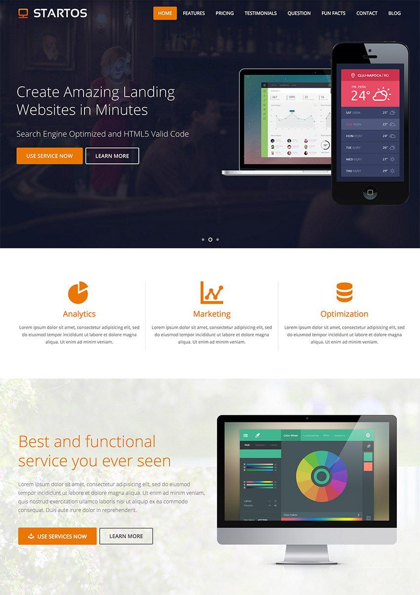 Modern App Landing Page WordPress Theme