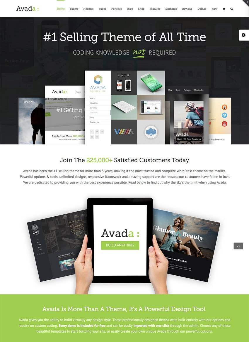 Avada WordPress Template