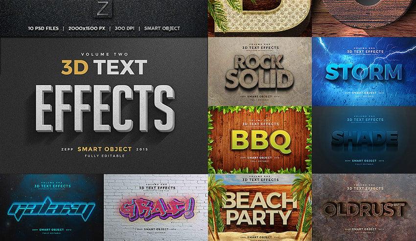 3D Photoshop Text Effects Vol2