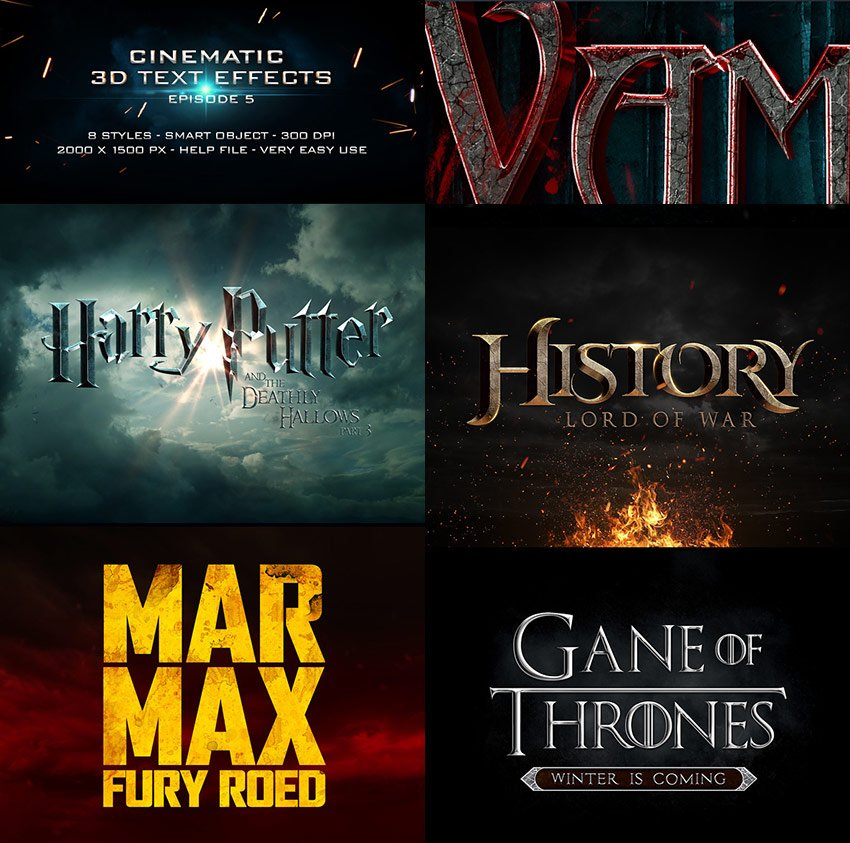 Cinematic Title PSD Text Effects
