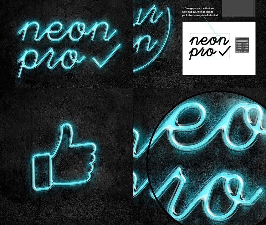 Neon Pro PSD Text Effect