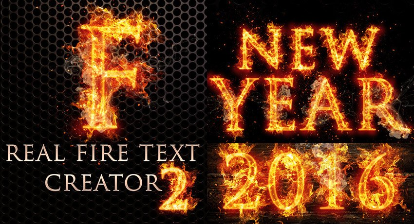 Real Fire Photoshop Text Creator 2