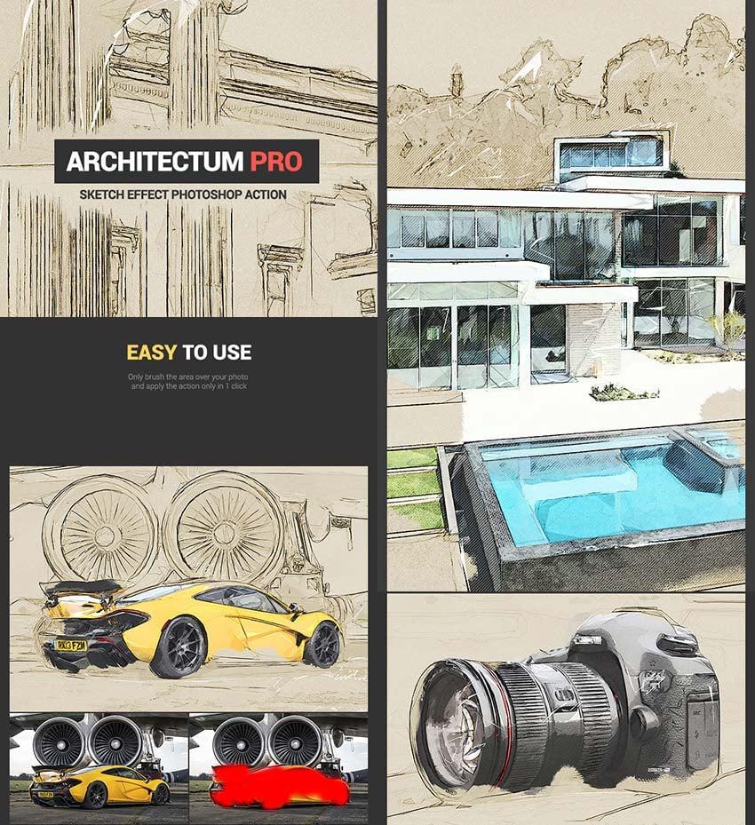 Architectum Artistic Effect PS Photo Action
