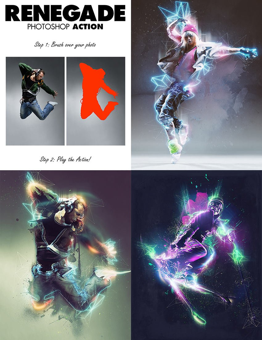 Renegade Glowing Effect PSD Photo Action