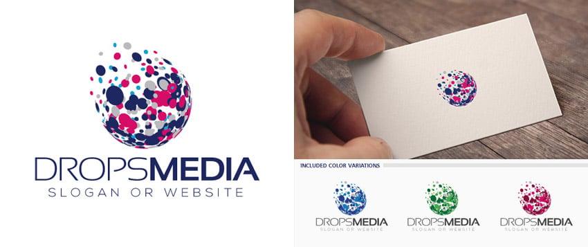 Interactive Media Style Logo Template