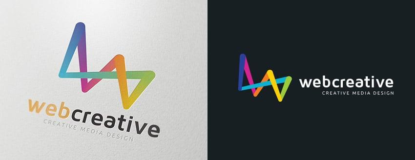 Web Creative Media Design Logo Template