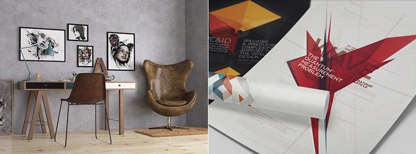 Studio and Minimal Poster Mockups