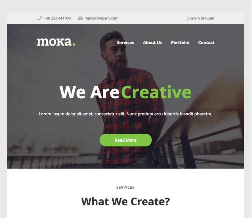 Moka Campaign Monitor Template