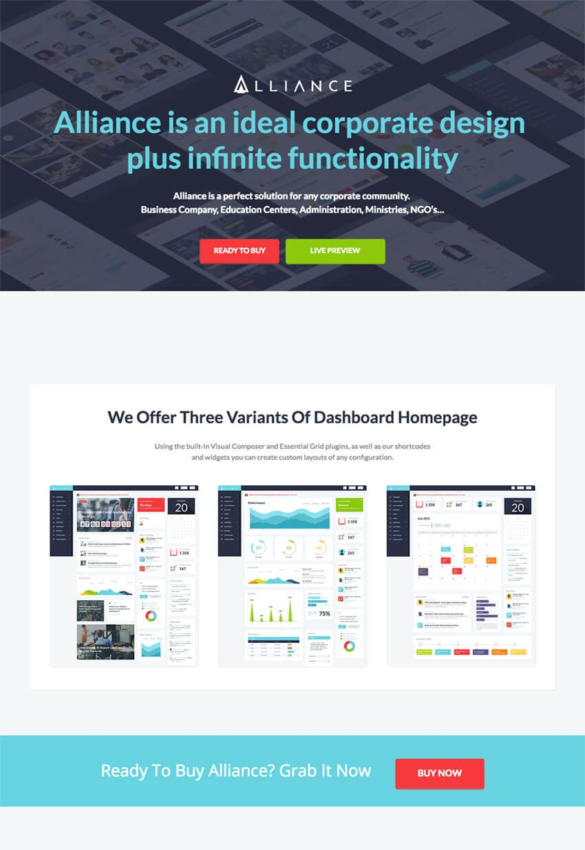 Alliance Intranet WordPress Directory Template