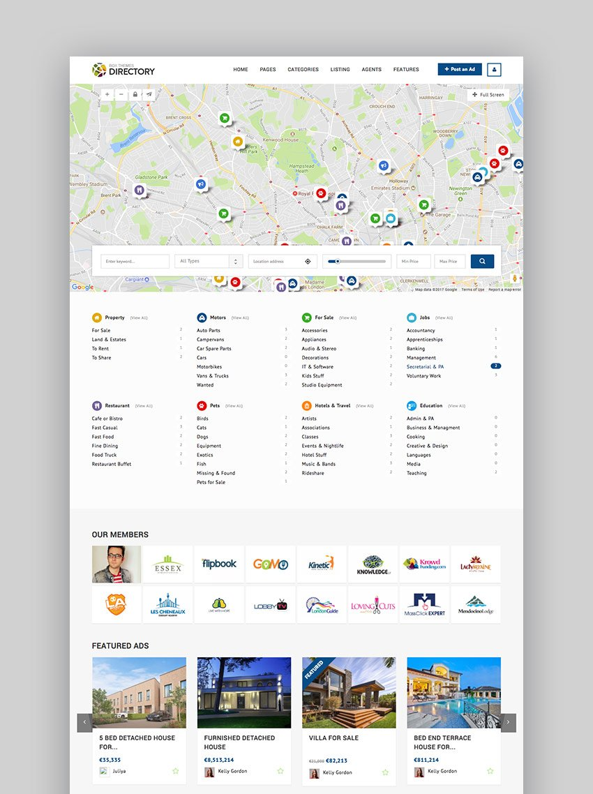 Directory Multipurpose WordPress Business Listing Theme
