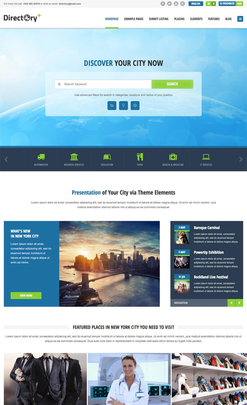Directory Portal WordPress Business Listing Theme