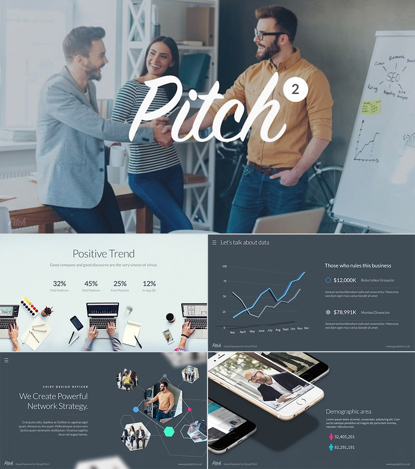 Pitch Vol2 Premium Powerpoint Template Set