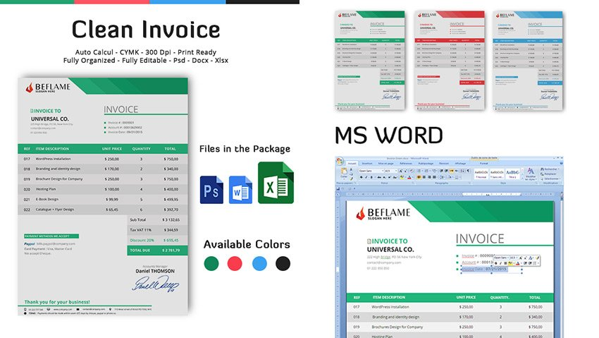 Simple Invoice Template for Small Business