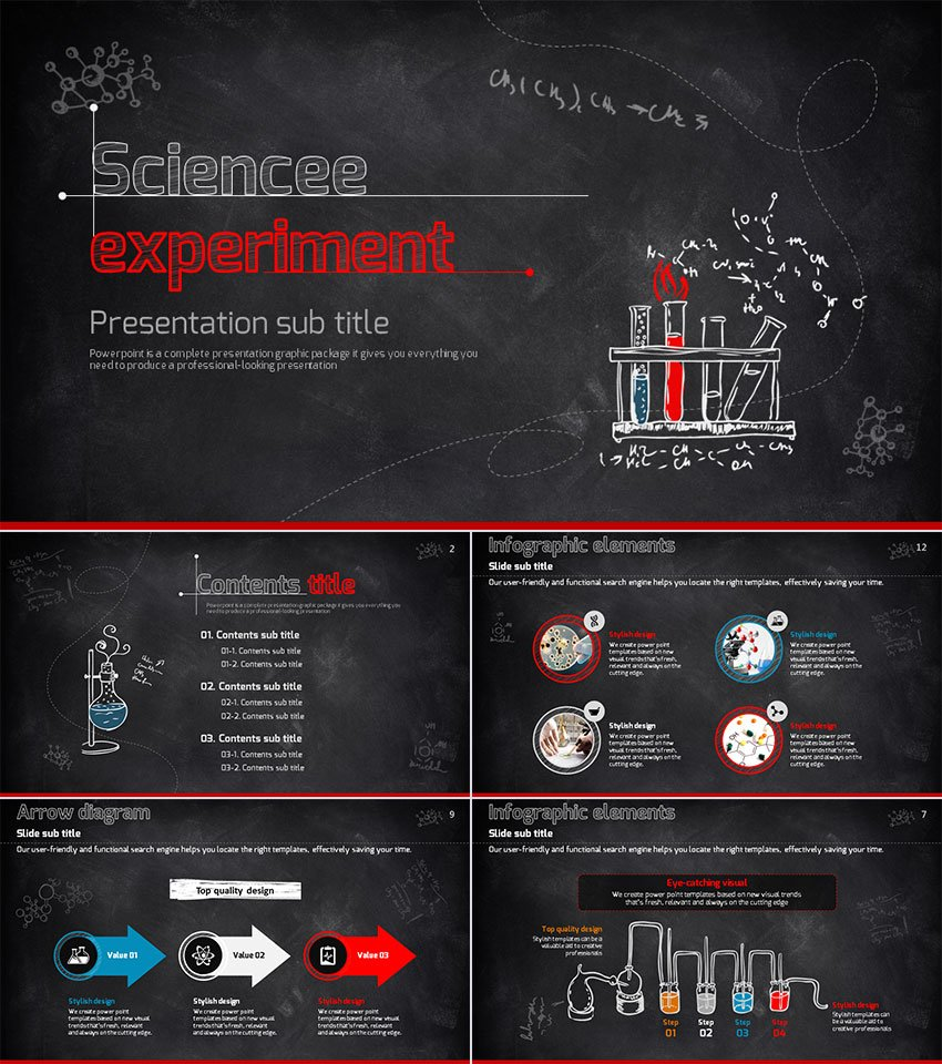 Science Experiment School Education PPT Templates