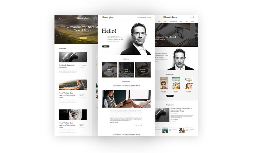 WordPress theme for writers and authors