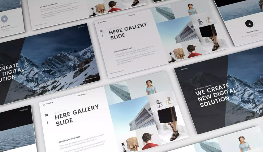 Mystify - Amazing PowerPoint Template with cool PPT slide designs