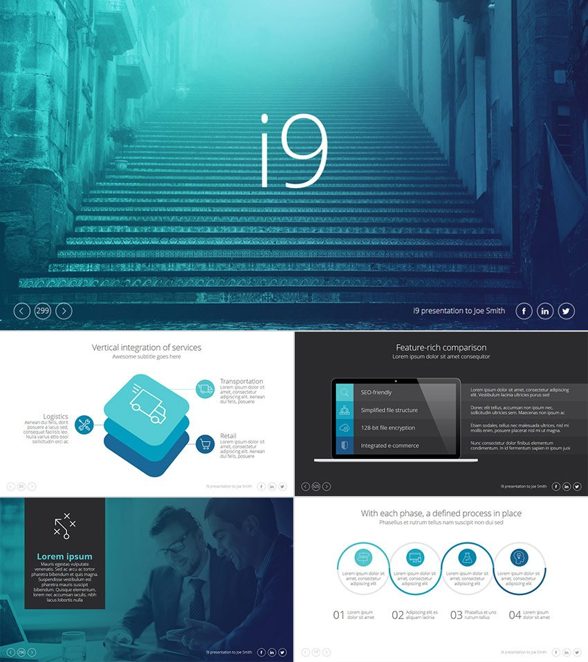 i9 Cool PPT Presentation Template Design