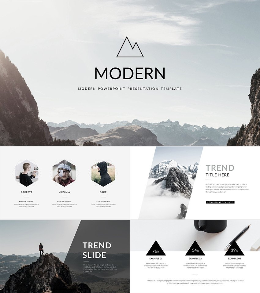Modern Cool PowerPoint Templates With Minimal Style