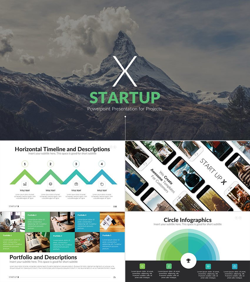 Startup X Creative Deck PPT Template Design