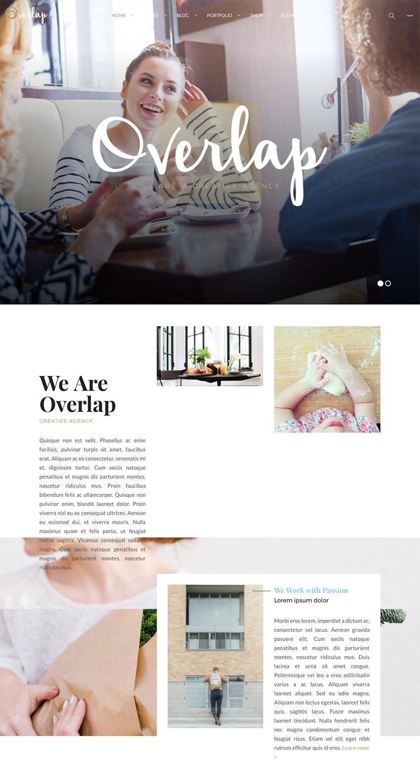 Overlap - High Performance Creative WordPress Agency Theme