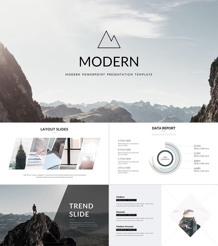 Modern 2016 PowerPoint Presentation Template Design